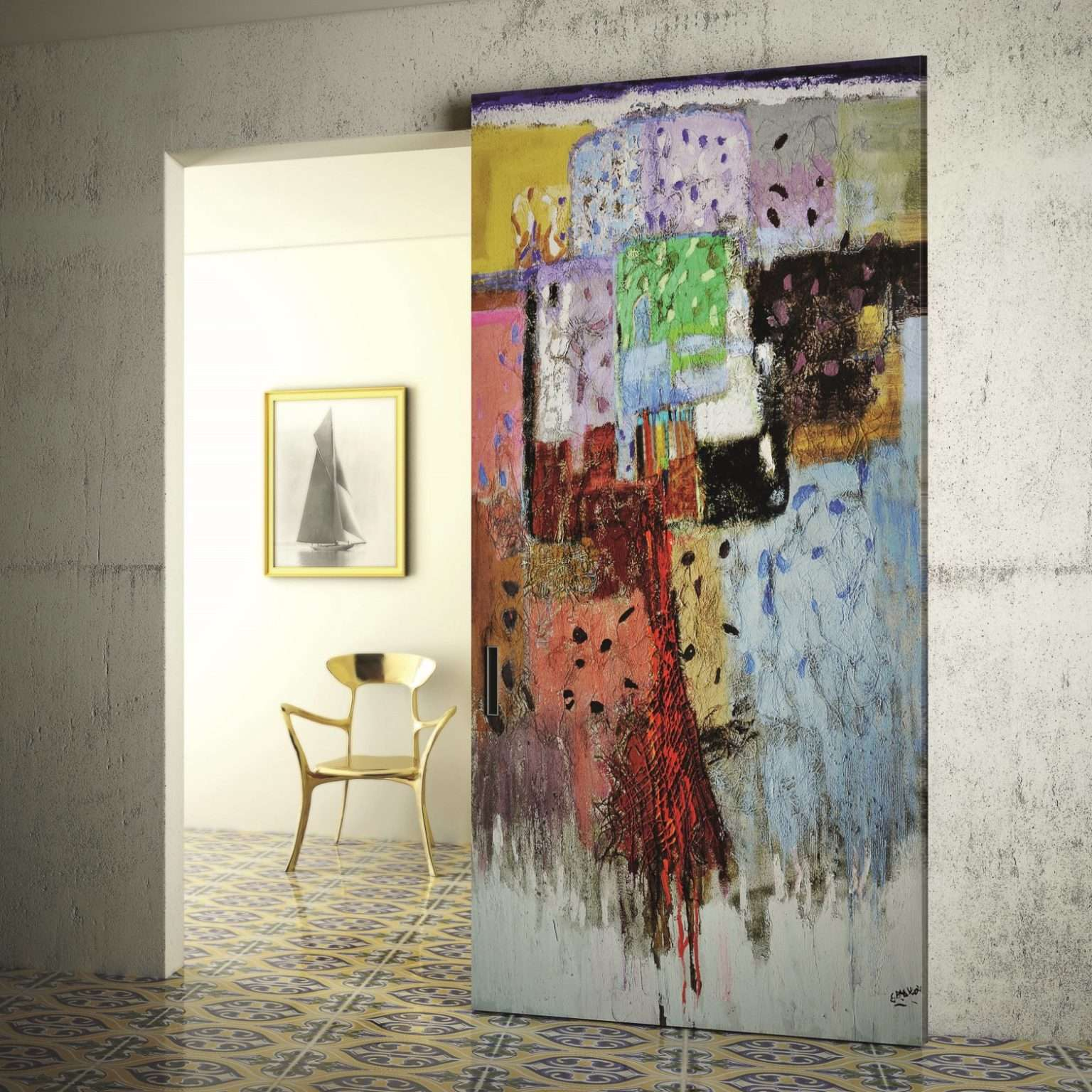 porta dipinto